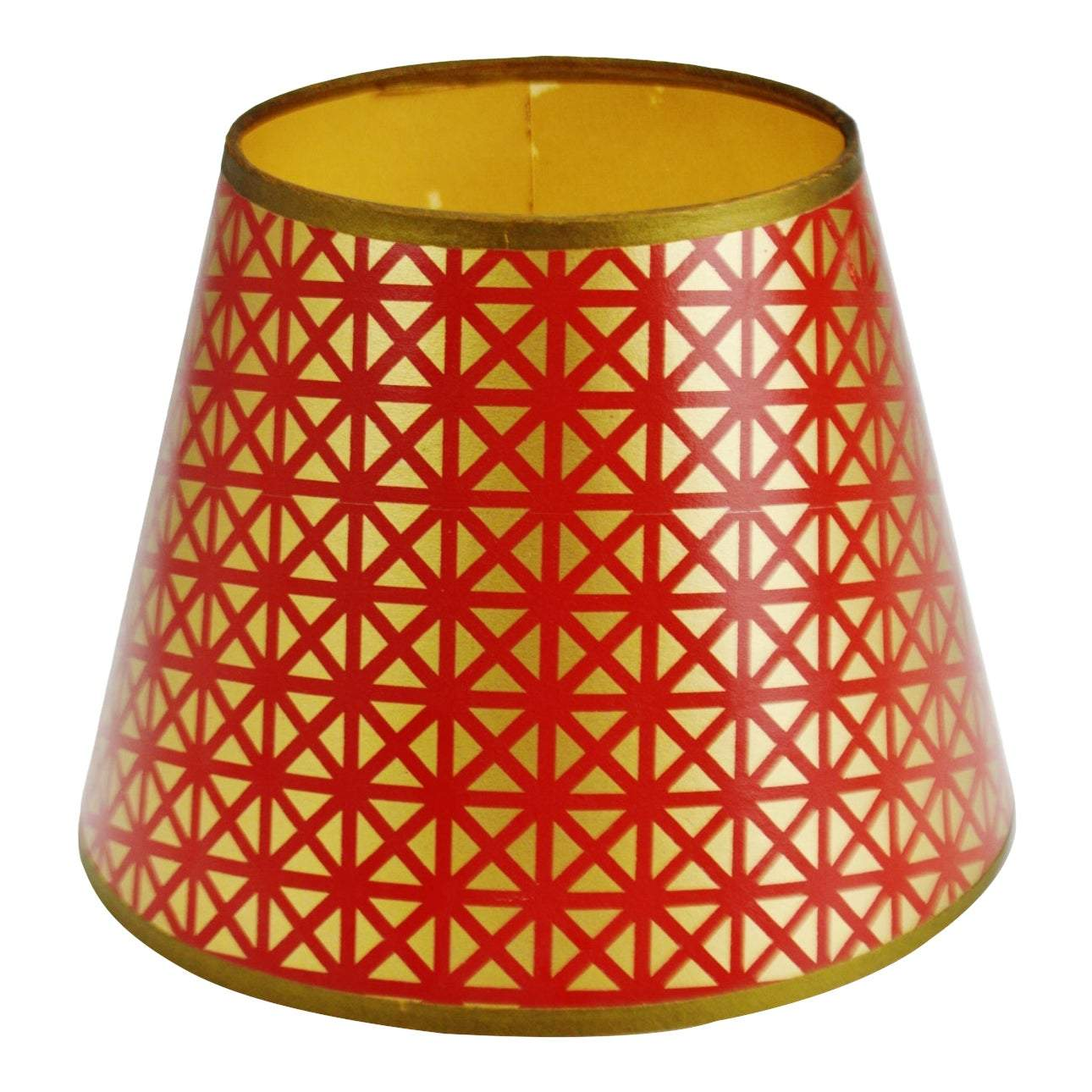 Geometric Red Gold Paper Lamp Shade