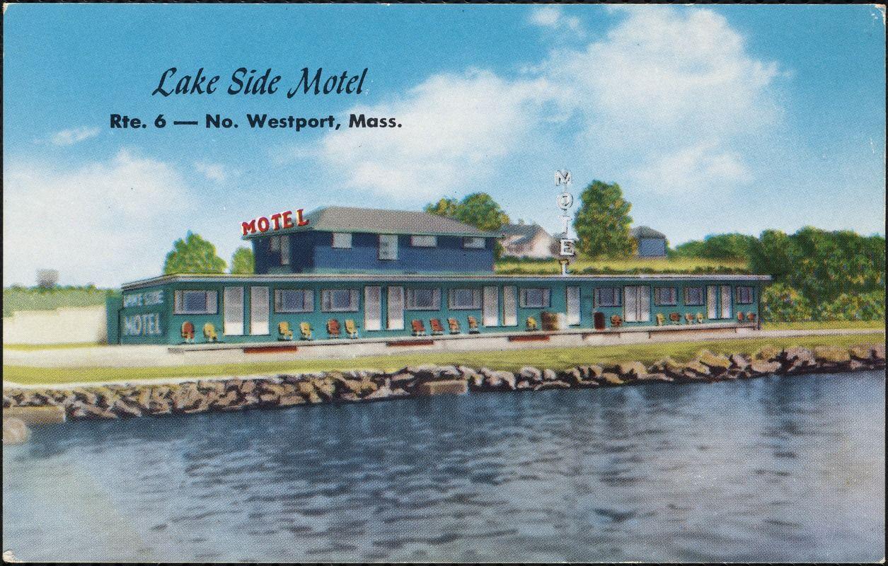 Lake side motel lakeside lake historical postcards