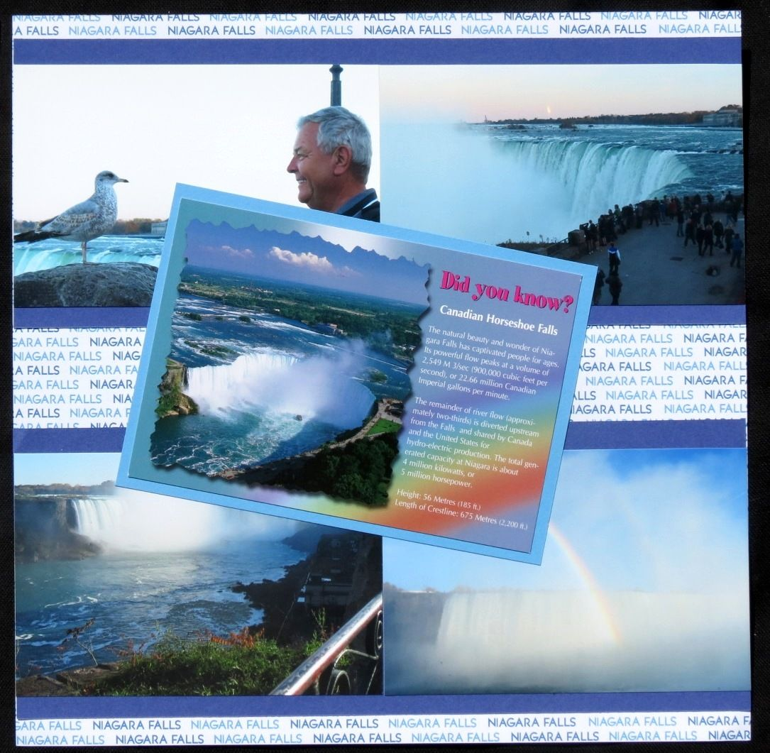 Scrapbook ideas niagara falls - Niagara Falls Canadian Side Scrapbook Com