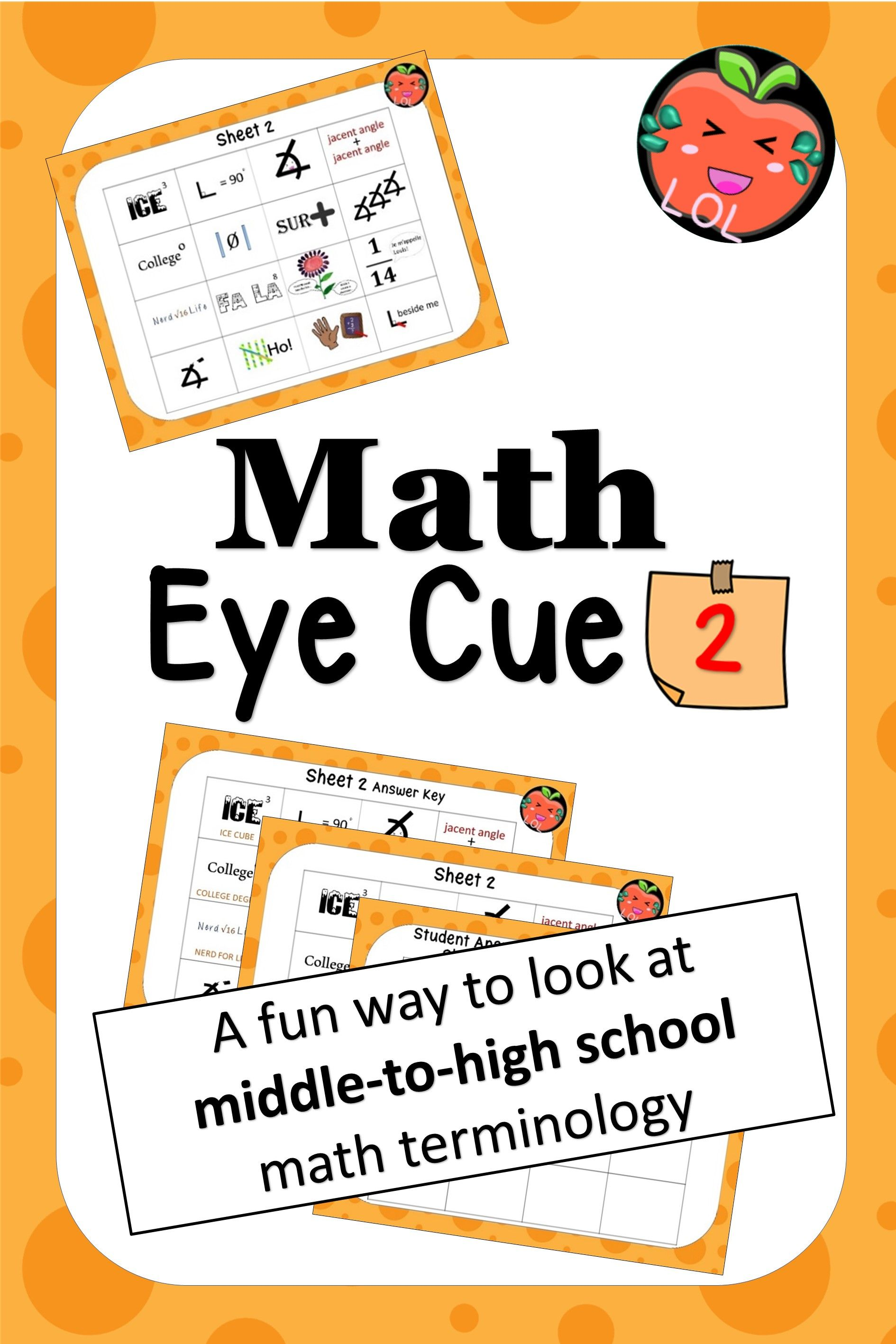 A middle school math vocabulary game for outofthebox