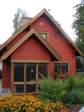 Leech lake 2 exterior entry rustic exterior - Rustic home exterior color schemes ...