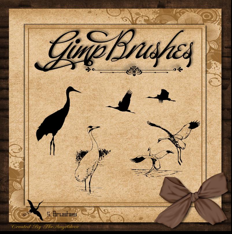 GIMP Brushes   Crane Brushes by TheAngeldove.deviantart.com on ...