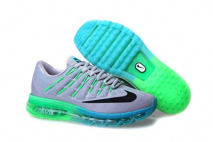 Nike Air Max 2016 Mens Shoes Black Green Blue On Sale