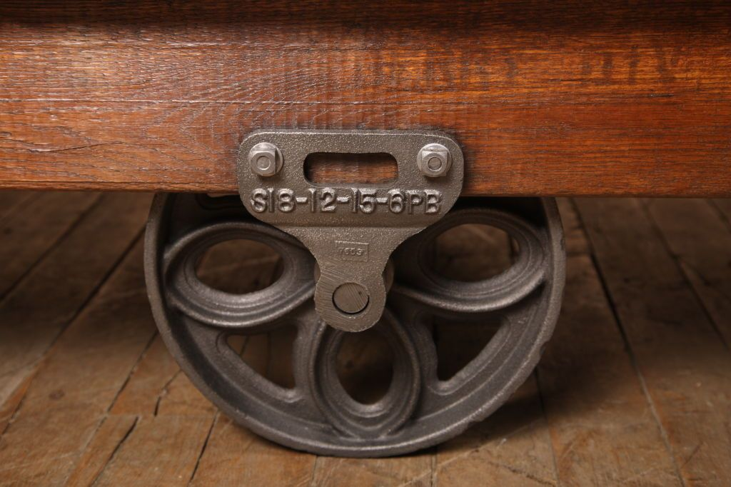 Original Vintage Industrial American Made Coffee Table Cart Image