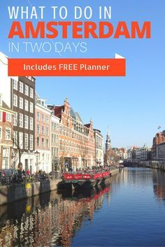 Unique architecture, canal views, pretty shops, world-famous museums! There's so much to do on a city break in Amsterdam - and this is your perfect easy-to-follow itinerary so you can see and do it all in just 2 extraordinary days. Click through for top tips for a Saturday and Sunday in Amsterdam, plus a free weekend break planner!