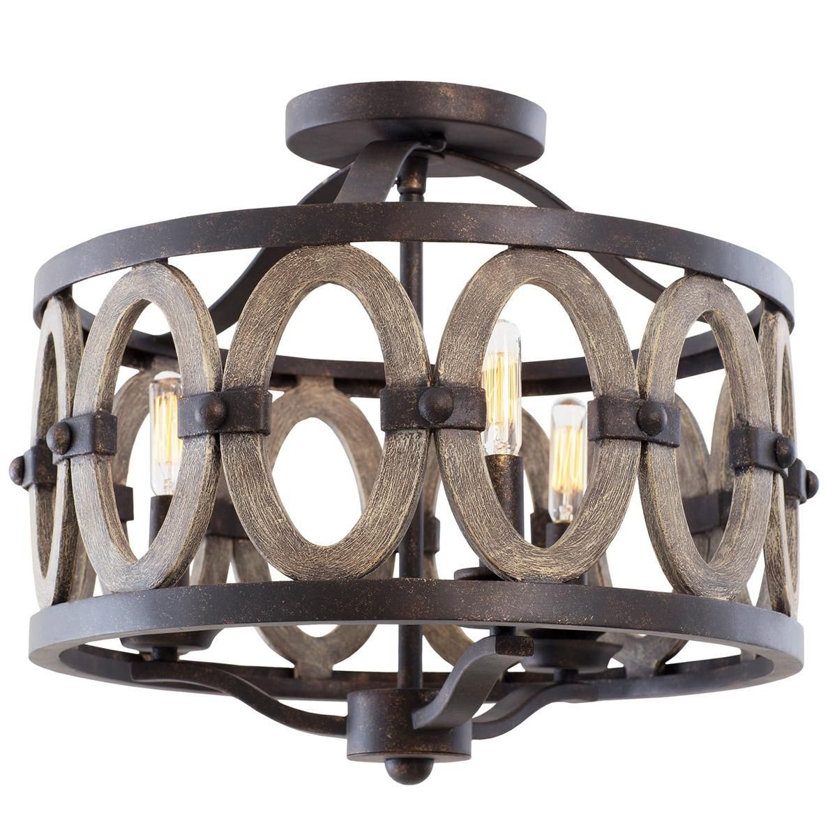 Where To Buy Ceiling Lights: Driftwood Entwined Ovals Ceiling Light