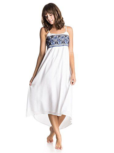 Listed Price: $27.99 Woven empire waist dress embroidered front bodice dobby skirt with hi-low hemline adjustable back tie lined at…