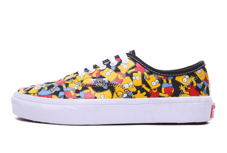 e77360ea532 Vans Simpson Black Authentic Cartoon Skate Shoes For Sale  Vans ...