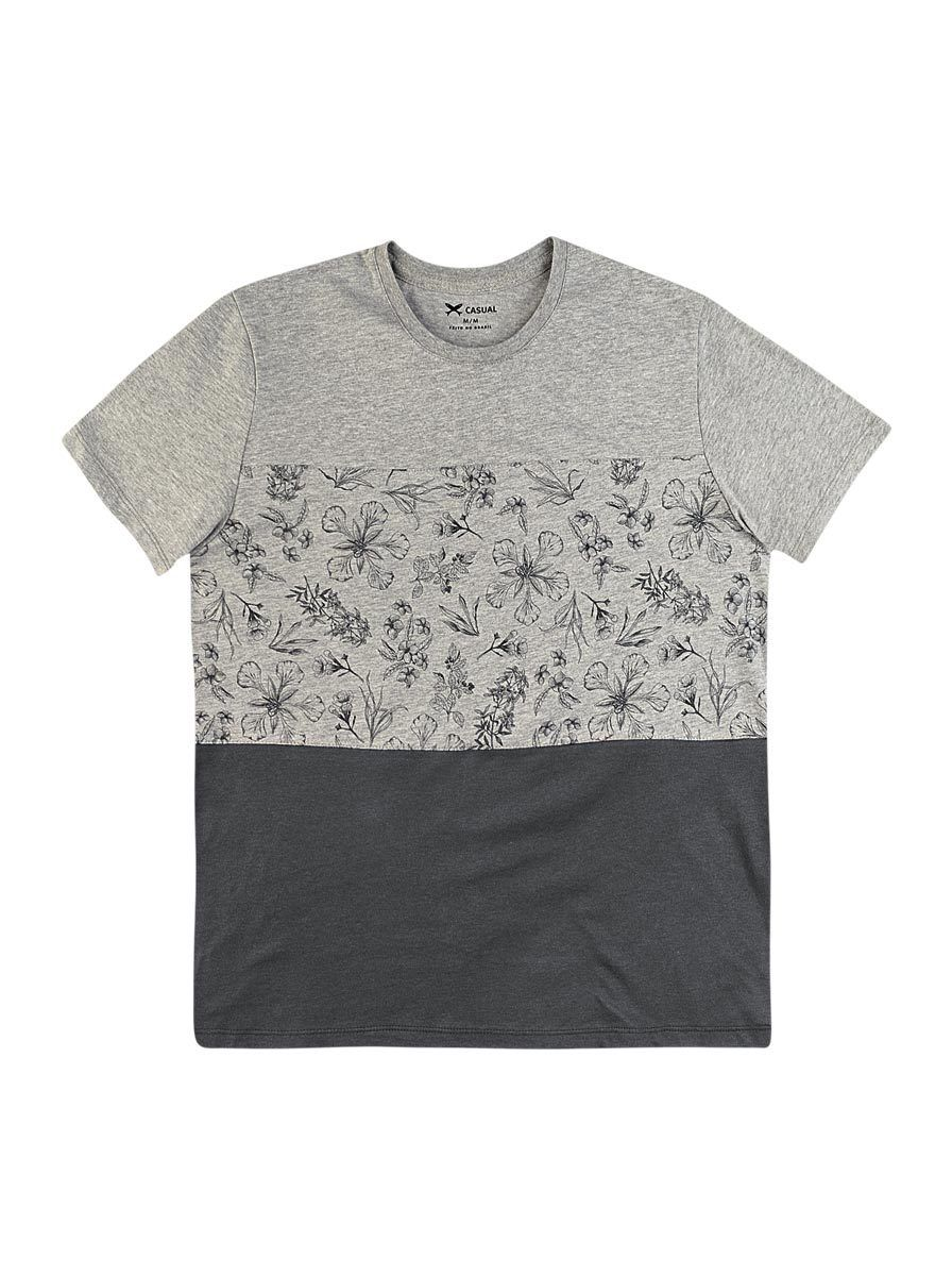 ed11587e8 Camiseta Masculina Regular Em Algodão E Poliéster