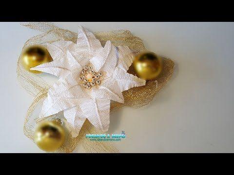 Como Hacer Centros De Navidad Youtube Flowers Pinterest - Como-hacer-centro-de-navidad