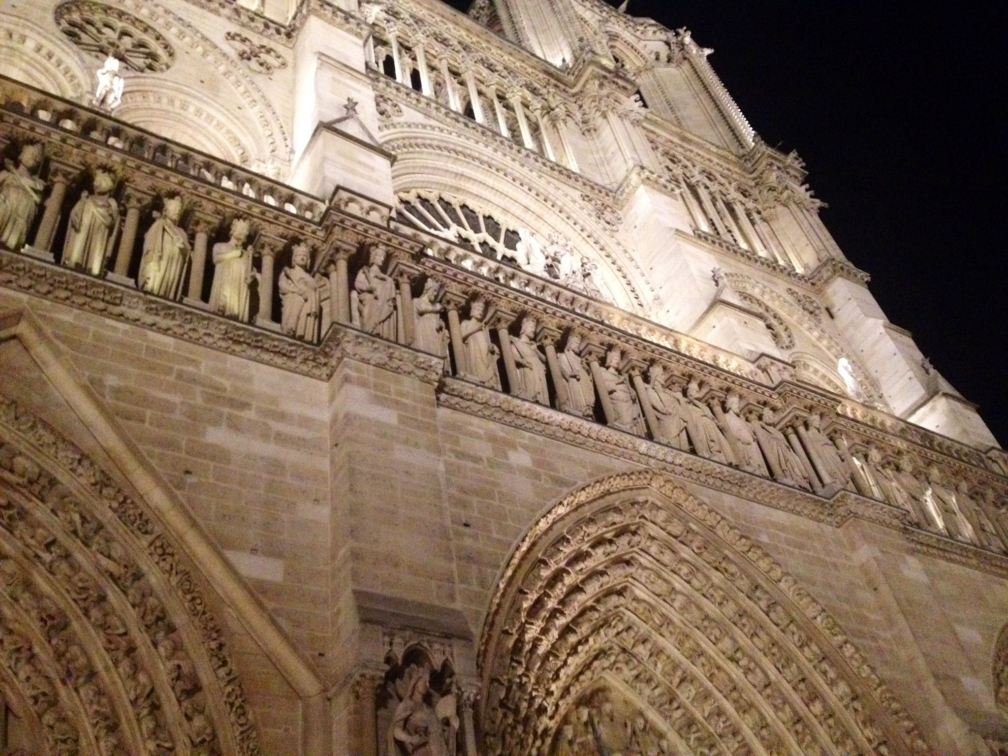 Notre Dame at night by Leah Marie Brown