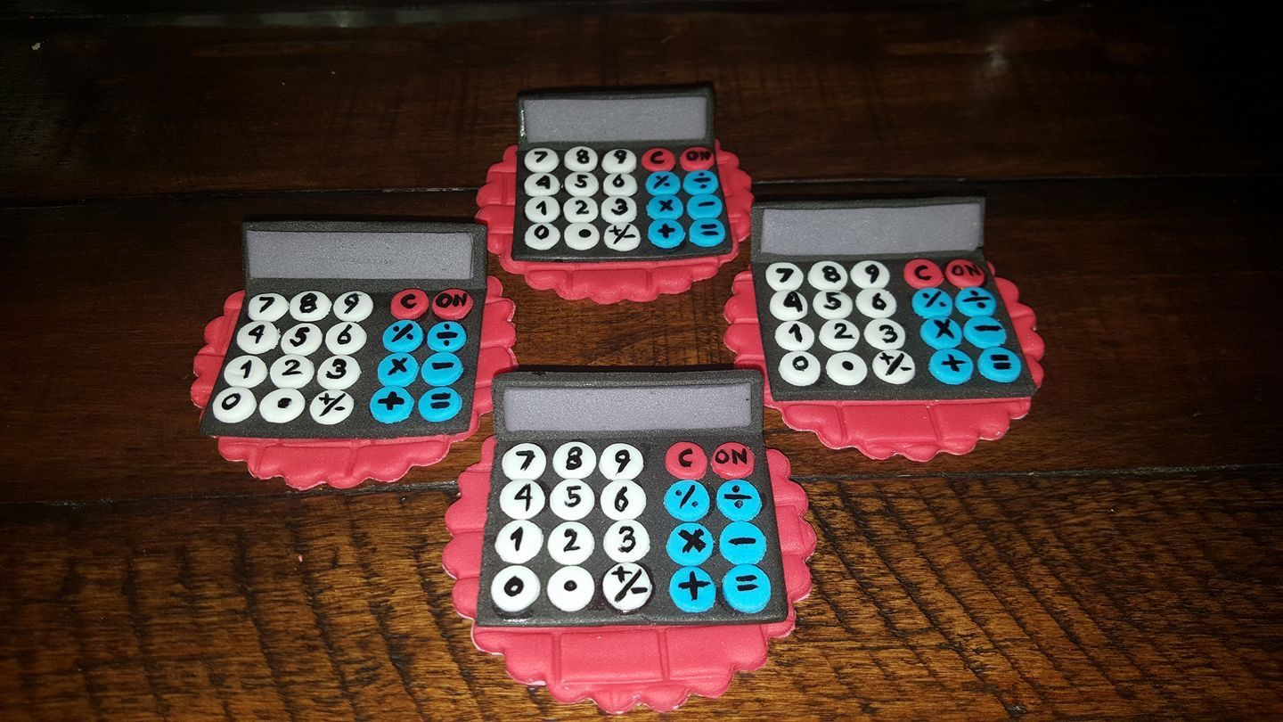 Calculator Cupcake Toppers Cupcake Toppers Rubiks Cube Topper