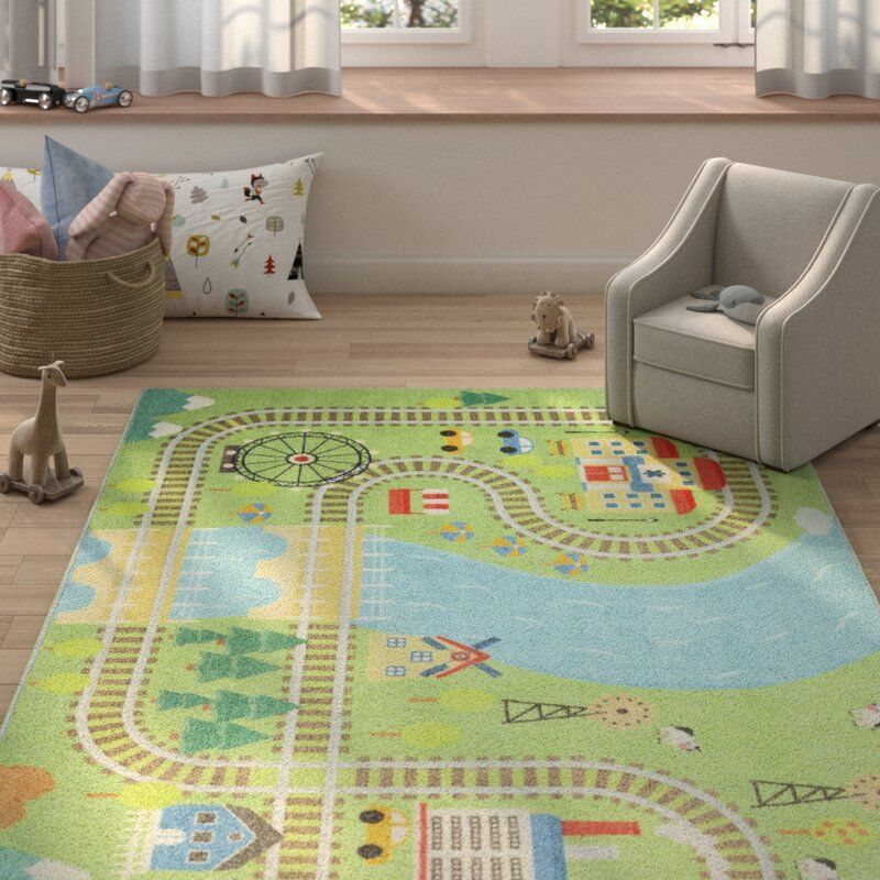 I M Thinking A Train Rug Or Activity Rug Of Some Sort Would Be Great Something He Can Play On To Also Cover To Wood Floor In 2020 Kids Rugs Area