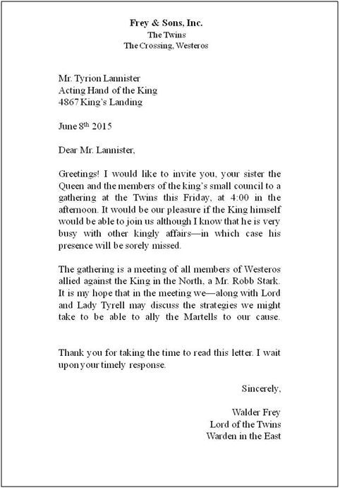Business Letter Template For Word Sample Examples Addressing