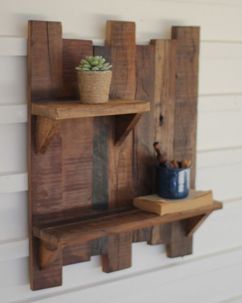Reclaimed Wood Wall Shelf Rustic Decor Wood Wall Shelves Ebay