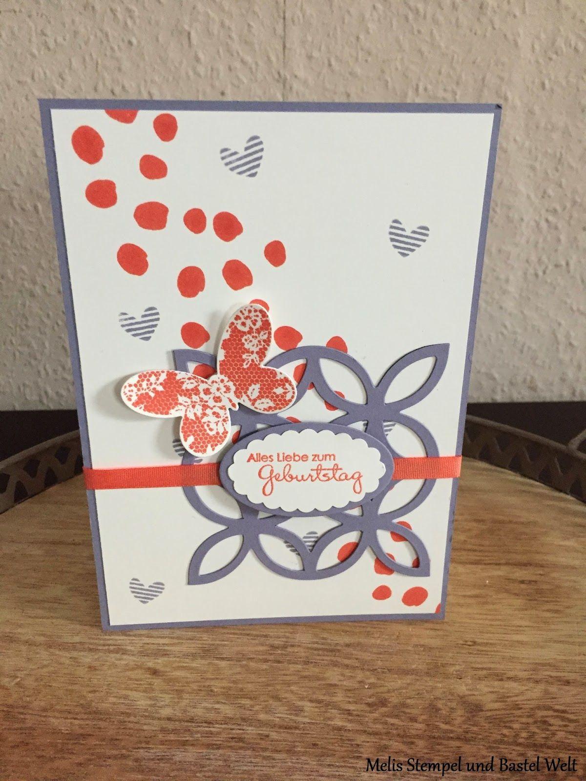 Stampin Up Geburtstagskarte Birthday Card Elegantes Gitter Schmetterlingsgruss Butterfly Schmetterling SAB Sale A Bration 2015 Tag Der Tage