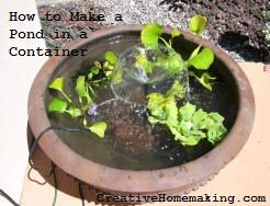 Create A Pond In A Container In Less Than An Hour. Patio PondDiy ...
