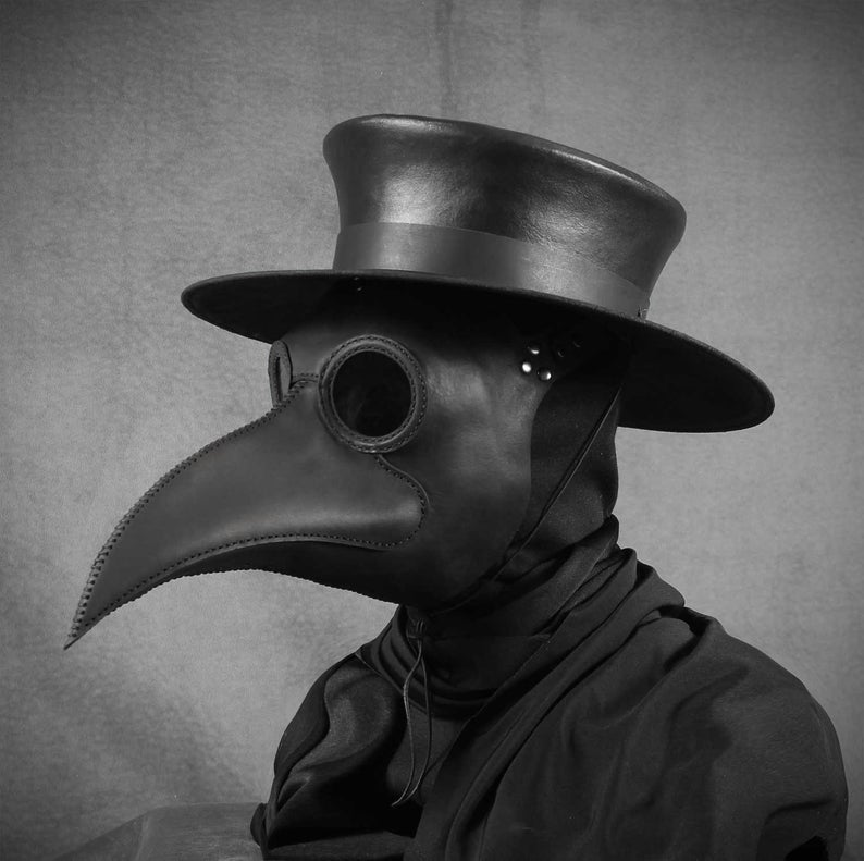 Plague Doctor S Mask Maximus In Black Leather In 2021 Plague Doctor Doctor Mask Plague Doctor Mask