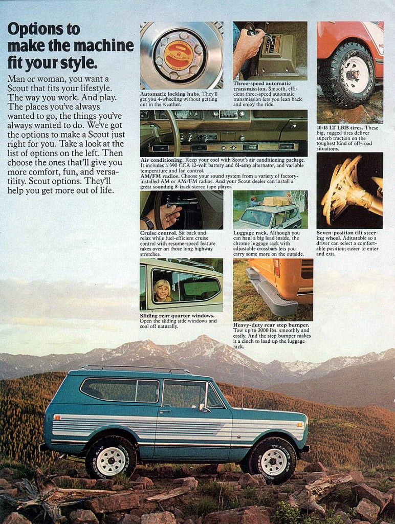 1978 International Scout Ad Red Clay Soul International Scout