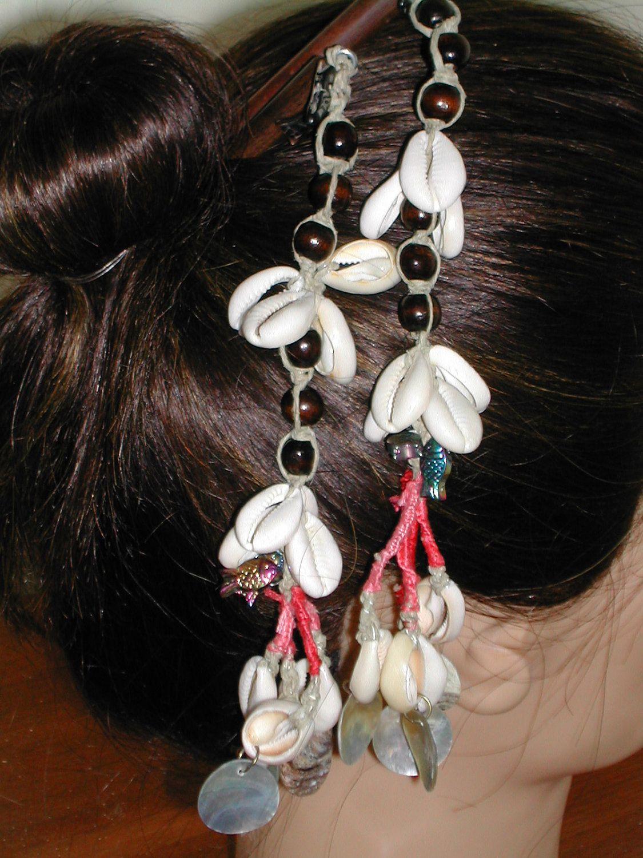 Cowrie Shell Hair Sticks