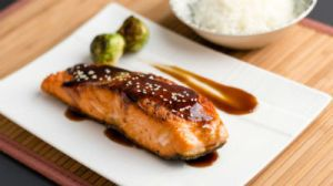 Salmon Teriyaki - This Salmon Teriyaki Recipe is a Japanese style broiled fish prepared with teriyaki sauce.