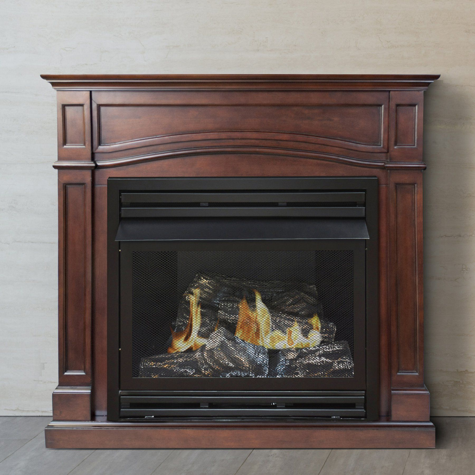 Pleasant Hearth Vff Phfsdr 2c 45 In Dual Fuel Fireplace Heater