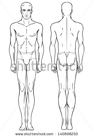 Body Template - unposed male | Costume - Rendering Templates in 2018 ...