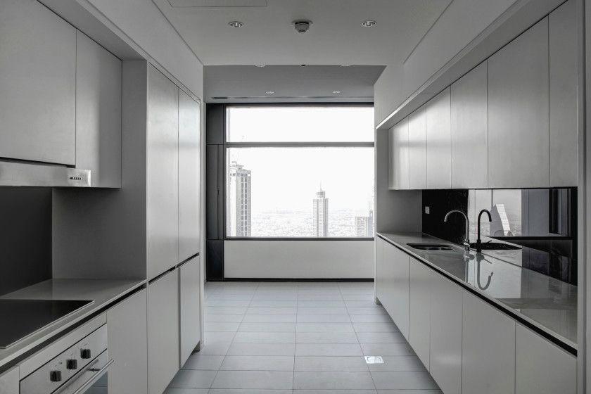 Clean contemporary luxury white european kitchen