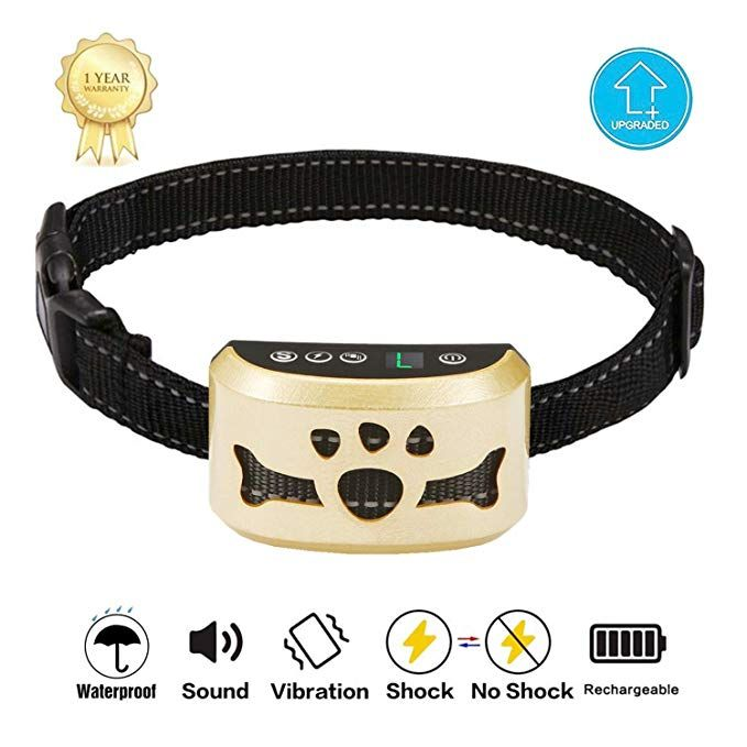 TOTIE Dog Bark Collar 7 Adjustable Sensitivity and