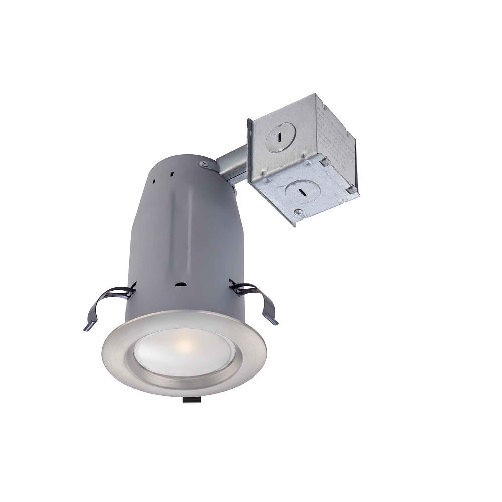 Brushed Nickel Led Recessed Kit 3 Inch Led Recessed Lighting Recessed Lighting Kits Led Light Design