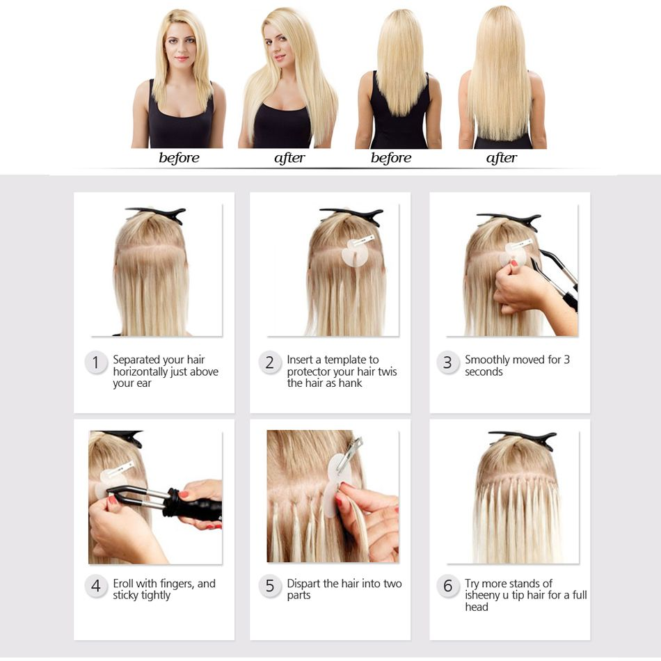 Aliexpress Buy Isheeny Remy Fusion Hair Extensions 1gpc 20