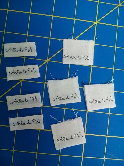Minhas primeiras etiquetas feitas na impressora HP. Adorei!!!!
