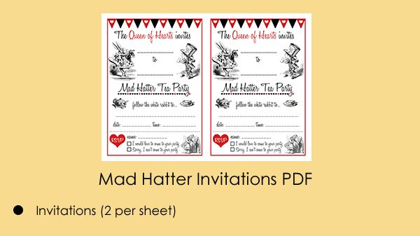 Mad Hatter Invitations Template