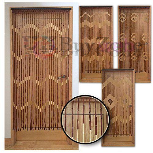 Bamboo Hanging Door Curtain Wooden Beaded Fly Bug Screen