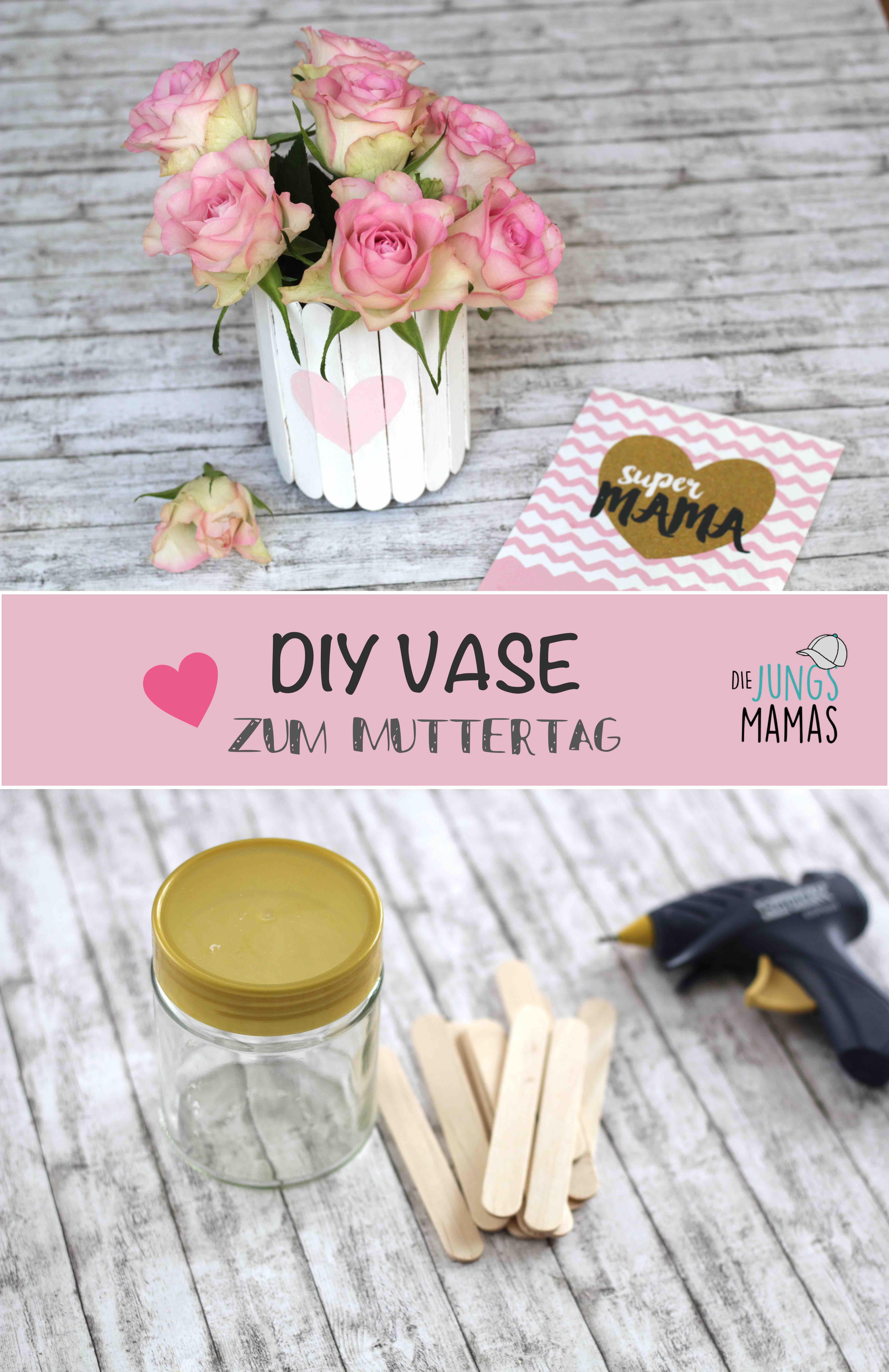 diy vase zum muttertag muttertag geschenk basteln mothers day diy pinterest muttertag. Black Bedroom Furniture Sets. Home Design Ideas