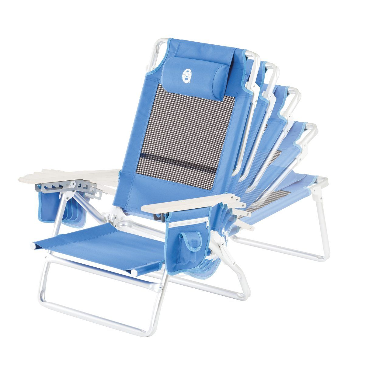 Coleman Low Recliner Chair Beach Solstol