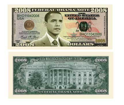 Barack Obama 2008 Commemorative Dollar Bill . $1.49. Brand New ...