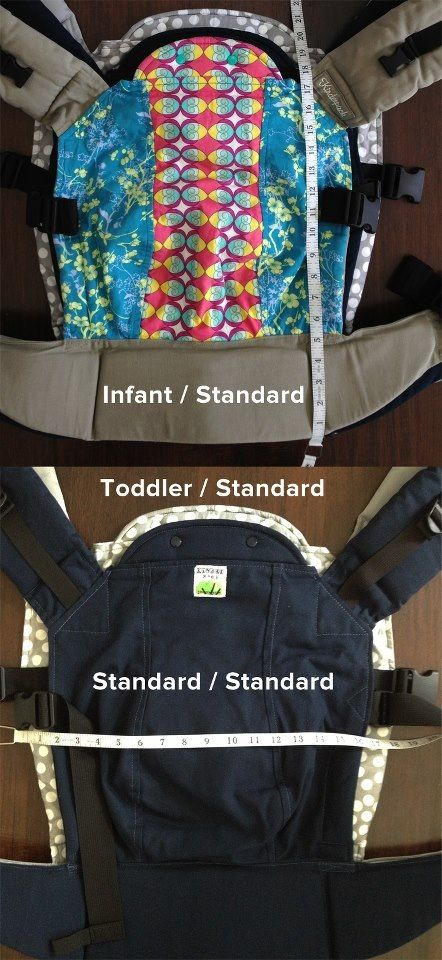 Kinderpack Body and Straps Size Comparison | Babywearing