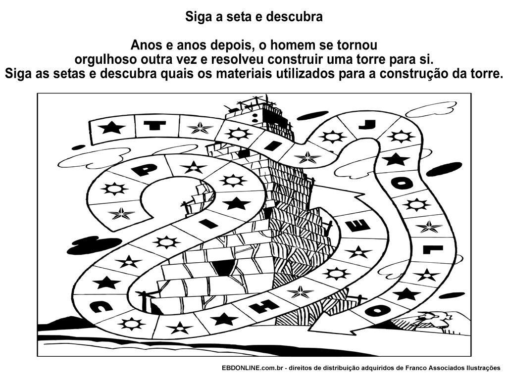 Perfecto Torre De La Biblia De Babel Historia Para Colorear Regalo ...