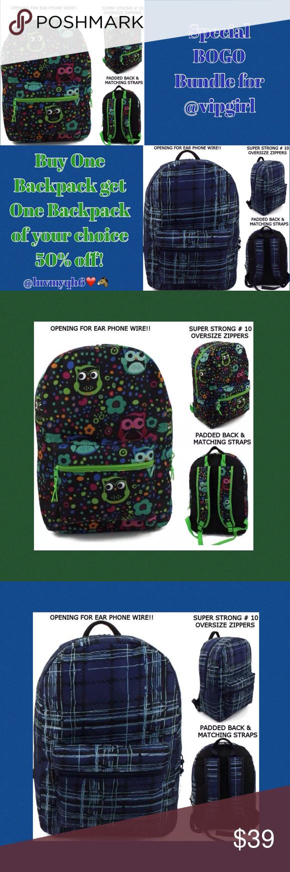 Special offer BOGO for 😂@vipgirl Buy 1 Backpack Get 1 Backpack for 50% off original price. Bags Backpacks