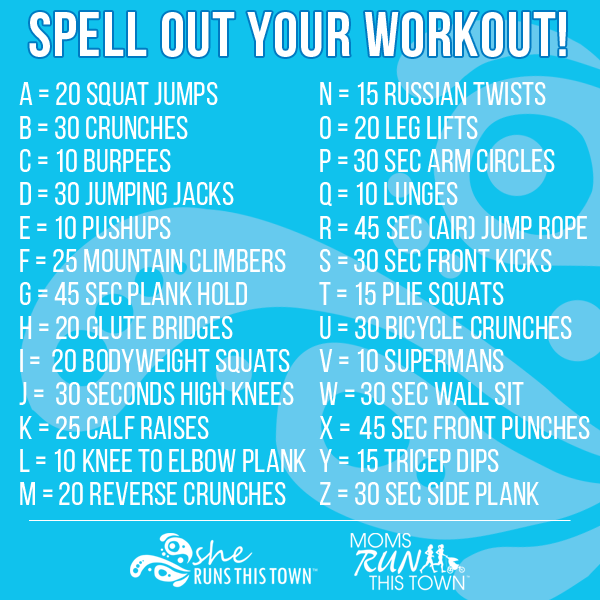 Use The Spelling Of Your Name Kids Names Friends Names Favorite City Etc To Make Up Your Workout Spell Your Name Workout Exercise For Kids Fun Workouts