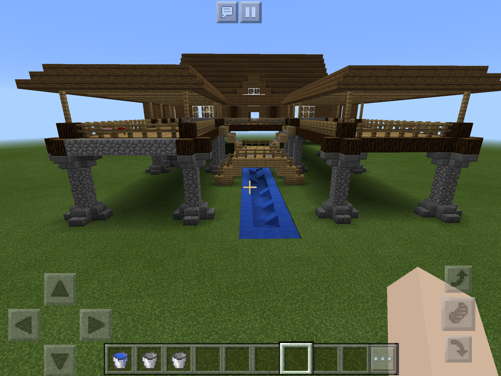 Stone Spruce Wood House It Took Me Forever To Make House In The Woods Spruce Minecraft Houses