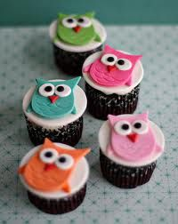 1st bday owl cupcakes