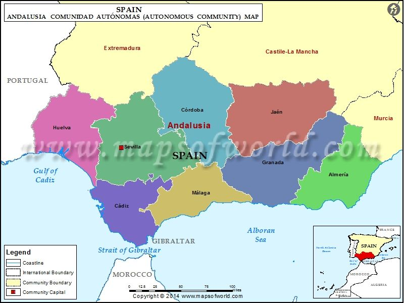 Andalucia Map Andalusia Pinterest Spain Andalucia spain and