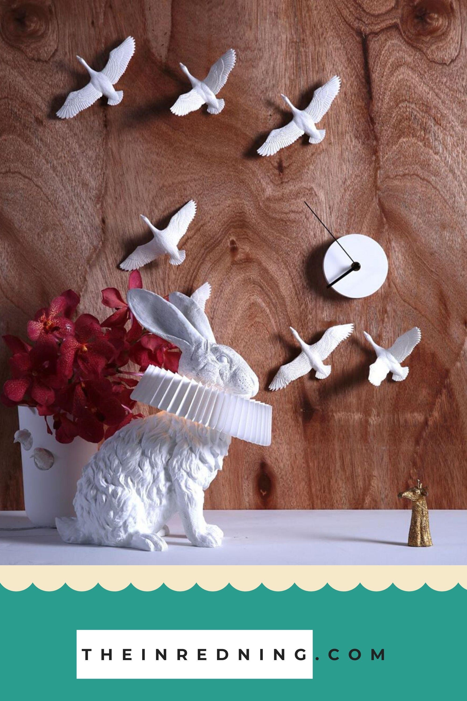 Hasenlampe Mit Deko Skulptur Fur Wohnzimmer Schlafzimmer Kinderzimmer In 2020 Deko Skulpturen Papierdekoration Kinder Lampen