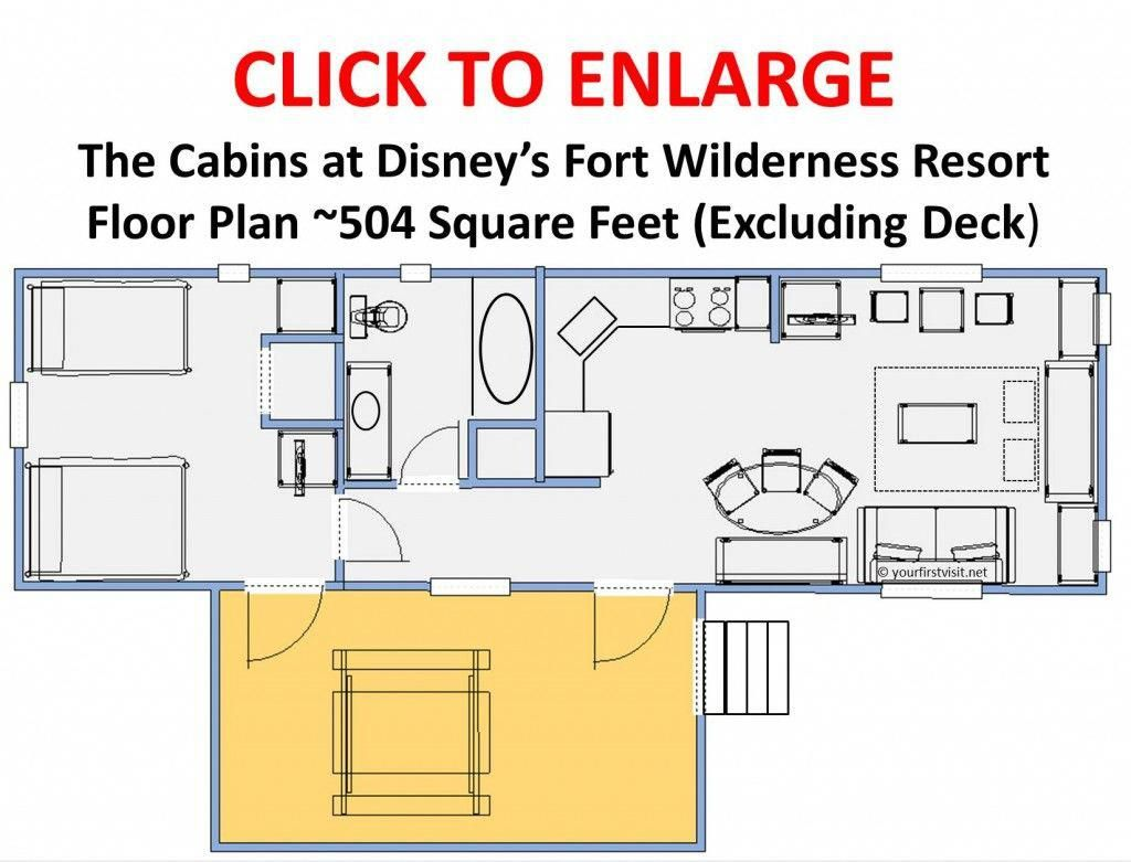Floor Plan The Cabins At Disney S Fort Wilderness Resort V3 Campingresort Fort Wilderness Disney Fort Wilderness Disney Fort Wilderness Resort