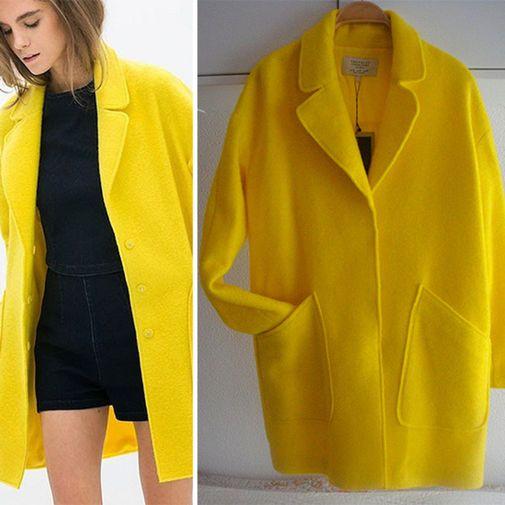 Abrigos amarillos baratos