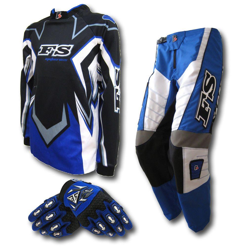 Mx Motocross Youth Jersey Pants Gloves Dirt Bike Gear Bmx Off Road Junior Kids 4x4