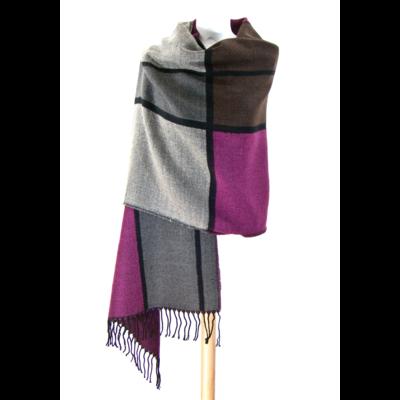 châle en laine motifs graphiques rose http   www.mesecharpes.com ... a7ff79b425a