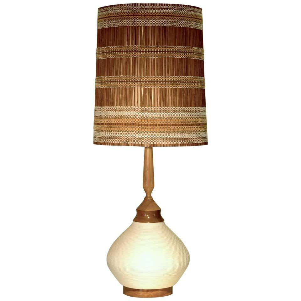 Very Large Ceramic Table Lamp With Rope Ceramic And Shade By Maria Kipp Ceramic Table Lamps Unusual Table Lamps Lamp